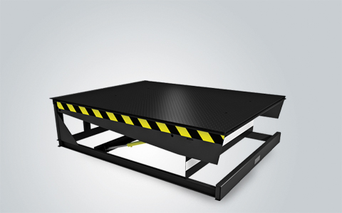 Electrohydraulic dock levelers with hinged lip